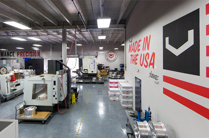 Vossen factory interior with industrial machinery